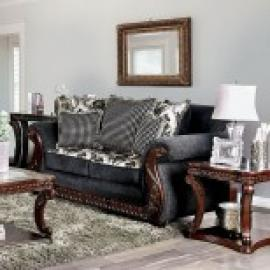 Whitland Gray Fabric Sofa SM6218-SF by Furniture of America