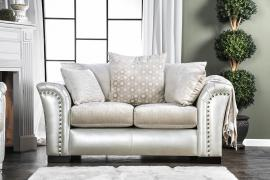 Benigno Pearl Fabric SM6411-LV Loveseat by Furniture of America