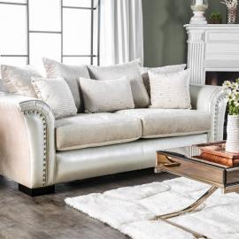 Benigno Pearl Fabric SM6411-SF Sofa by Furniture of America