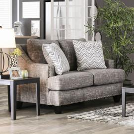 Erika Gray Chenille Fabric SM6420-LV Loveseat by Furniture of America