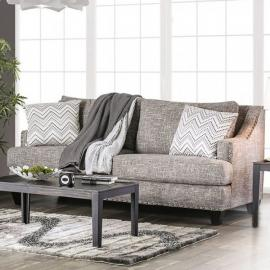 Erika Gray Chenille Fabric SM6420-SF Sofa by Furniture of America