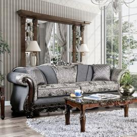 Newdale Gray Fabric Sofa SM6424-SF by Furniture of America