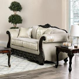 Newdale Ivory Fabric Loveseat SM6425-LV by Furniture of America