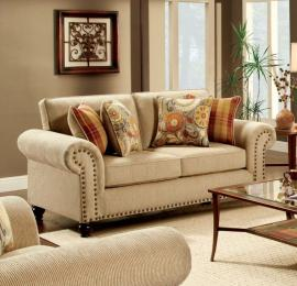 Calloway Tan Fabric Loveseat SM8110-LV by Furniture of America