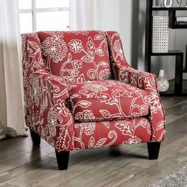 Ames Orange Fabric Chair SM8250-CH-FL by Furniture of America