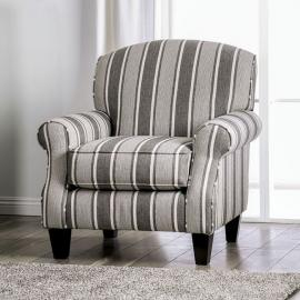 Ames Charcoal Fabric Chair SM8250-CH-ST by Furniture of America