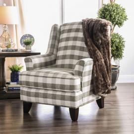 Christine patterned Fabric SM8280-CH Accent Chair by Furniture of America