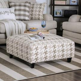 Christine Patterned Fabric SM8280-OT Accent Ottoman by Furniture of America