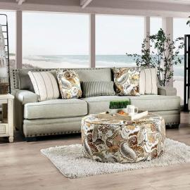 Begley Mocha Fabric Sofa SM8300-SF by Furniture of America
