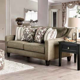 Fillmore Warm Gray Fabric Loveseat SM8350-LV by Furniture of America