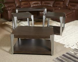 T364-2 Geriville by Ashley Square End Table In Brown