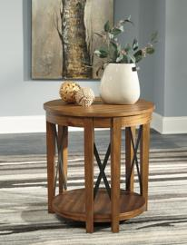 T433-6 Emilander by Ashley Round End Table In Light Brown