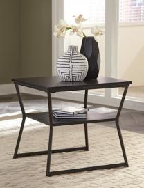 T436-3 Vallodee by Ashley Rectangular End Table In Black
