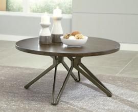 T476-8 Tavonni by Ashley Round Cocktail Table In Brown/Black