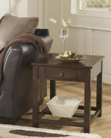T477-3 Marion by Ashley Rectangular End Table In Dark Brown