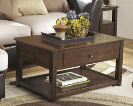 T477-9 Marion by Ashley Lift-top Cocktail Table In Dark Brown