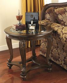 T499-6 Norcastle by Ashley Round End Table In Dark Brown