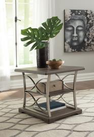 T634-3 Baymore by Ashley Rectangular End Table In Grayish Brown