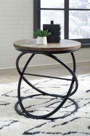 T644-6 Charliburi by Ashley Round End Table In Brown/Black