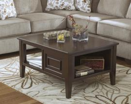 T654-1 Larimer by Ashley Rectangular Cocktail Table In Dark Brown