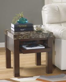 T687-2 Kraleene by Ashley Square End Table In Dark Brown