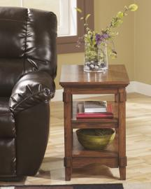 T719-7 Cross Island by Ashley Chair Side End Table In Medium Brown