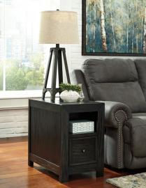 T752-7 Gavelston by Ashley Storage End Table In Rubbed Black