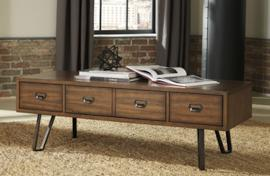 T762-1 Centair by Ashley Rectangular Cocktail Table In Warm Brown