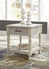 T782-3 Shawnalore by Ashley Rectangular End Table In White Wash