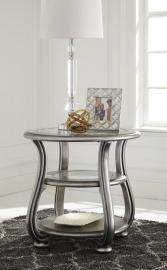 T820-6 Coralayne by Ashley Round End Table In Silver Finish