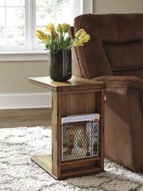 T830-17 Tamonie by Ashley Chair Side End Table In Medium Brown