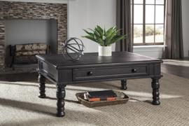 T835-1 Sharlowe by Ashley Rectangular Cocktail Table In Charcoal