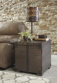 T846-2 Burladen by Ashley Square End Table In Grayish Brown