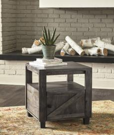 T848-2 Chaseburg by Ashley Square End Table In Light Brown