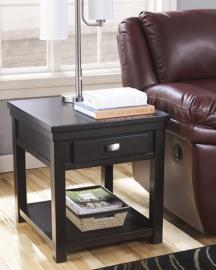 T864-3 Hatsuko by Ashley Rectangular End Table In Dark Brown