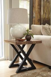 T873-2 Wesling by Ashley Square End Table In Light Brown