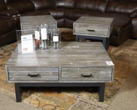 T891-2 Mondoro by Ashley Square End Table In Grayish Brown