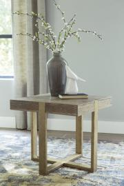 T945-2 Paluxy by Ashley Square End Table In Light Brown
