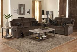 Burke Collection U4050 Ebony Power Reclining Sofa & Loveseat Set