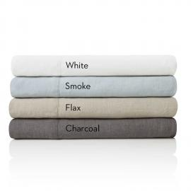 French Linen -Split King Charcoal Sheets