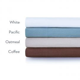 Portuguese Flannel - King Oatmeal Sheets