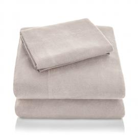 Portuguese Flannel - Queen Pillowcase Oatmeal