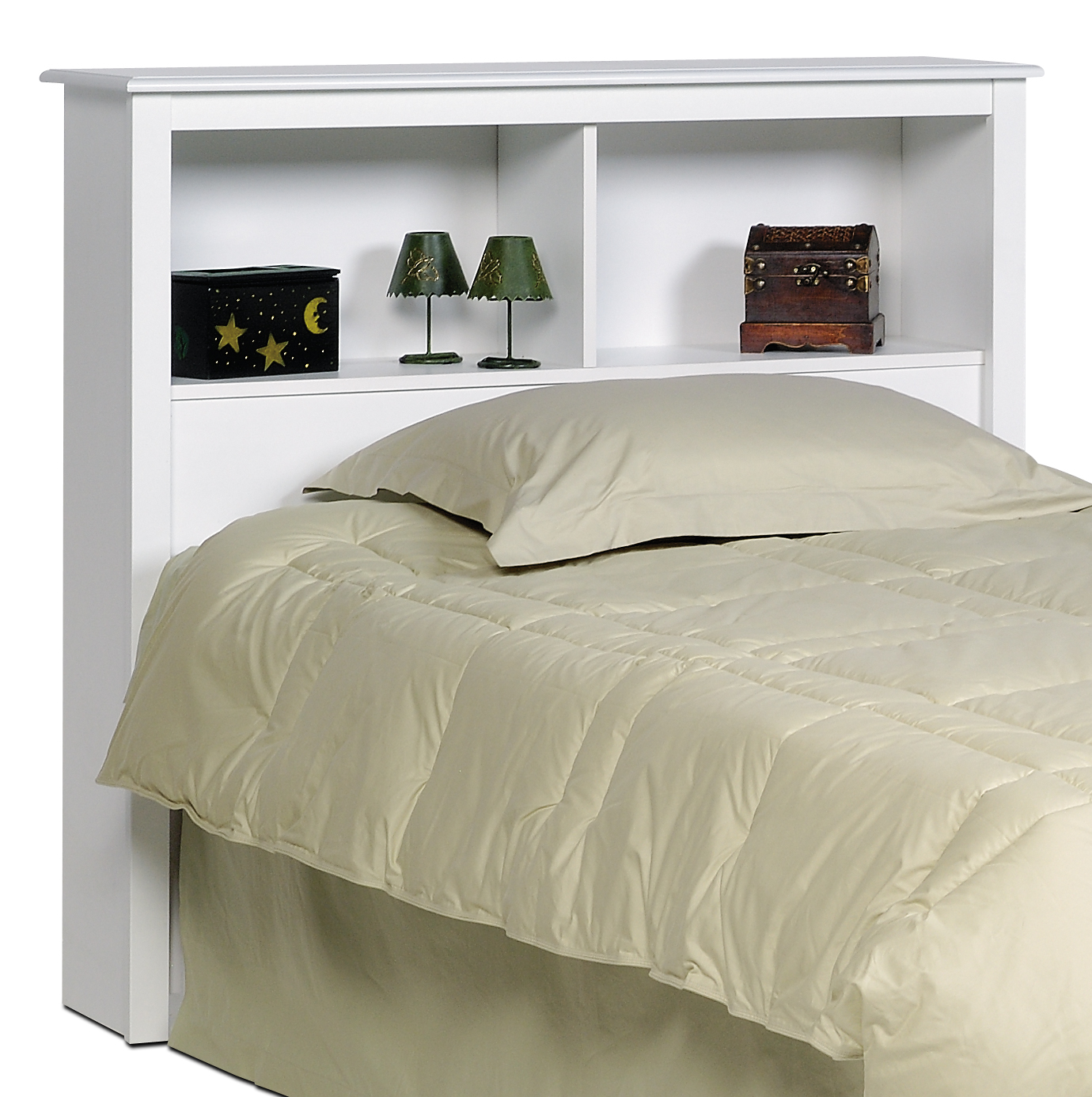 Prepac White Twin Bookcase Headboard Wsh4543 Furniture Outlet Mor Jeromes Furniture Warehouse